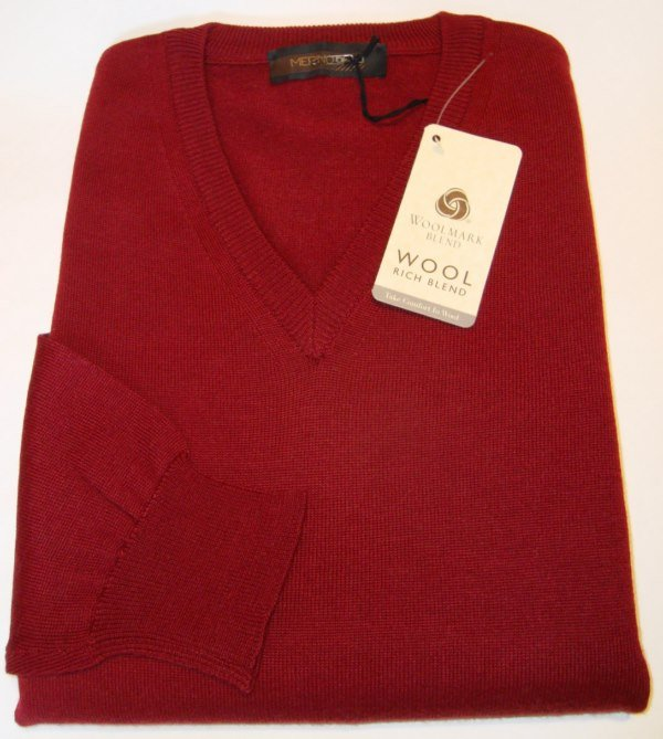 Sweater: MERINO VEE NECK JUMPER
