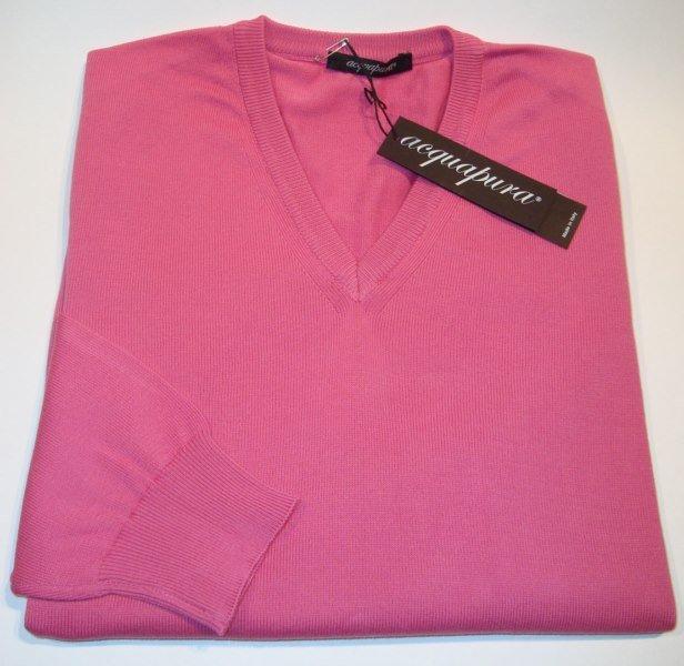 Sweater: BAUMWOLLE V-AUSSCHNITT PULLOVER