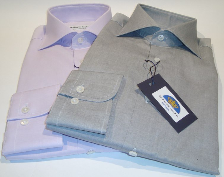 Shirt Men: SLIM FIT FRENCH COLLAR
