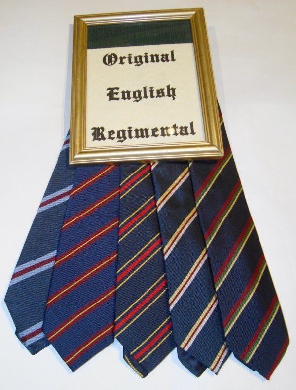 ORIGINAL ENGLISH REGIMENTAL KRAWATTE