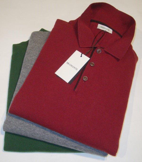 Sweater: CASHMERE MERINO POLO SWEATER