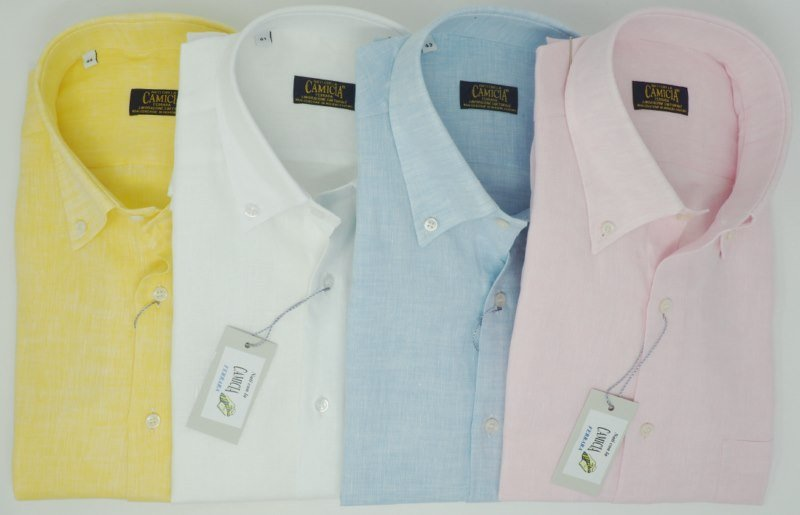Shirt Men: SHORT SLEEVE 100% LINEN SHIRT