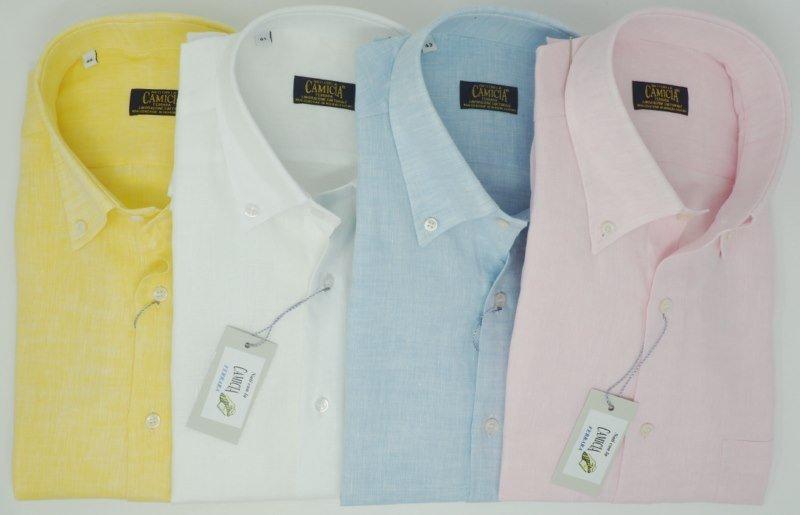 Shirt Men: SHORT SLEEVE 100% LINEN SHIRT