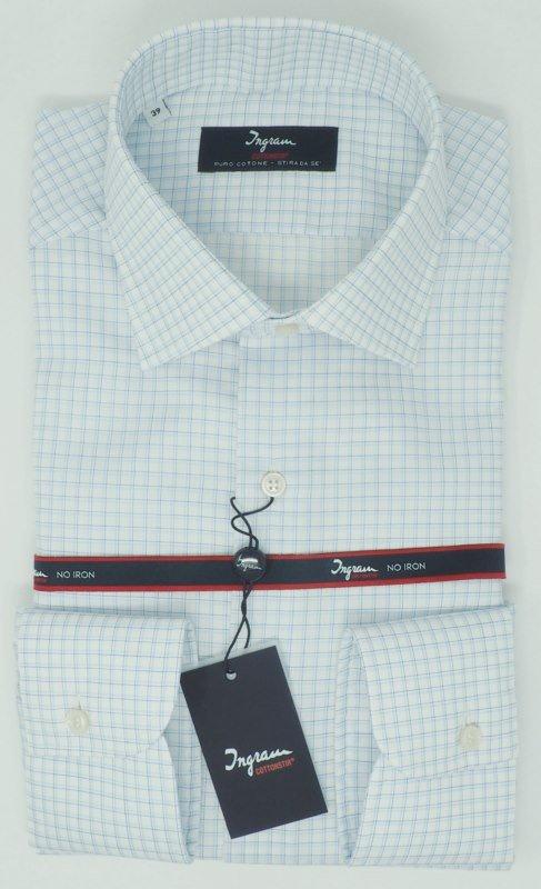 Shirt Men: CHECKERED 100% COTTON NO IRON SHIRT