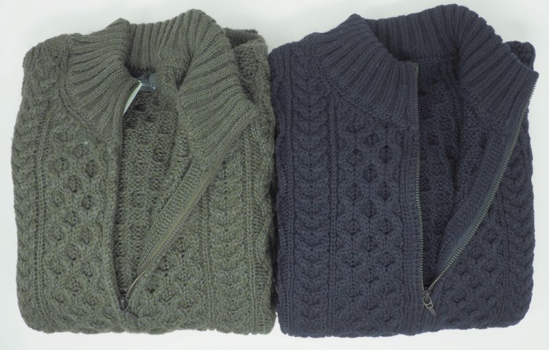 Sweater: ARAN APERTO FULL ZIP
