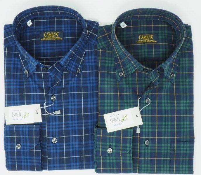 Shirt Men: 100% BAUMWOLLE KAROHEMD