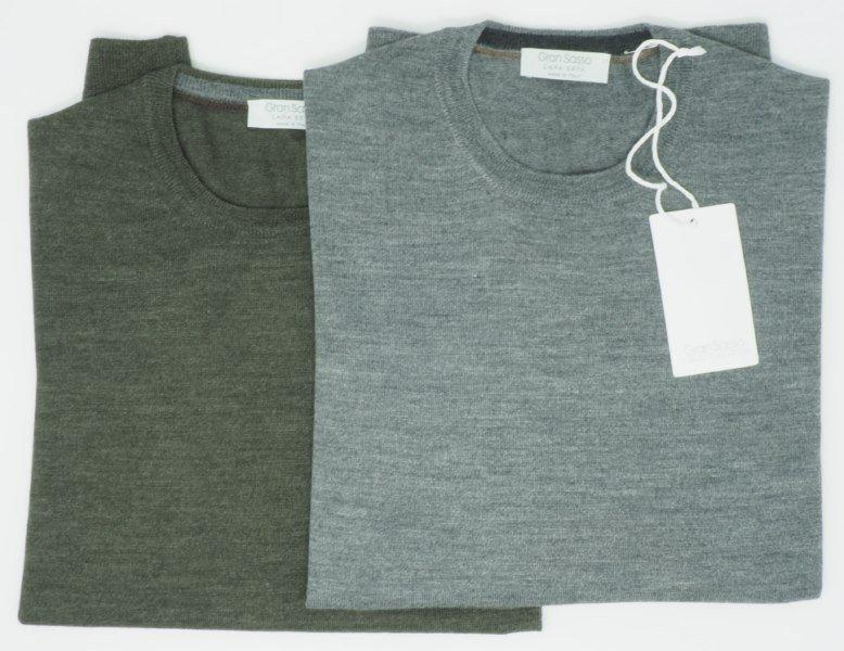 Sweater: 70% MERINOS 30% SEIDE RUNDHALS