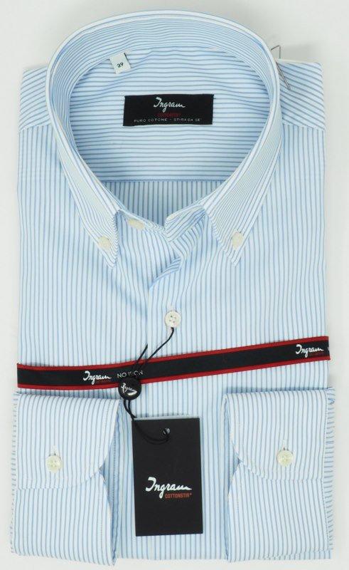 Shirt Men: BÜGELFREIE 100% BAUMWOLLHEMD