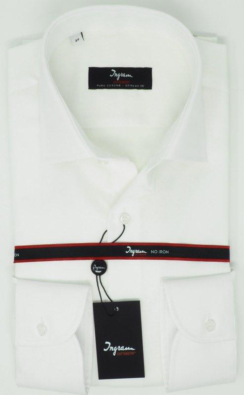 Shirt Men: PIQUE BAUMWOLLE KEIN EISEN HEMD