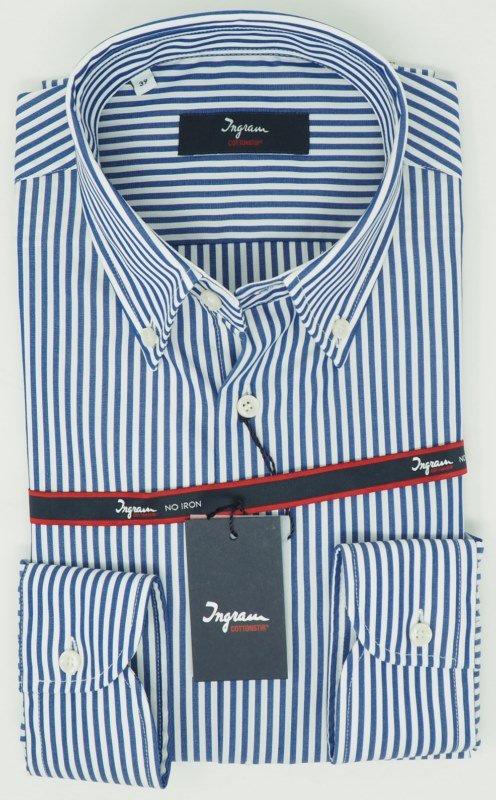Shirt Men: STRIPED NO IRON SHIRT