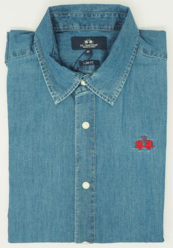Shirt Men: DENIM COTTON SHIRT