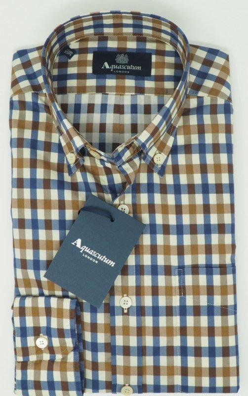 Shirt Men: CAMICIA A QUADRI AQUASCUTUM