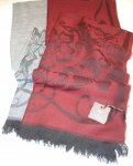 PARTICULAR SCARF WOOL AND VISCOSE 90 X 190 LA FERRIERE
