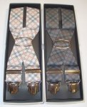 CHECKERED ELASTIC SUSPENDERS PAOLO DA PONTE