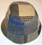 BUCKET HUT PATCHES TWEED HANNA HATS