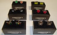 STEEL CUFFLINKS CHRISTIE'S LONDON
