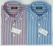 COLORED STRIPED SHORT SLEEVE SHIRT NATI CON LA CAMICIA