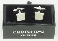 STAINLESS CUFFLINKS CHRISTIE'S LONDON