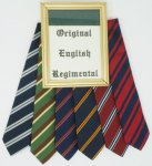 ORIGINAL ENGLISH REGIMENTAL TIE ORIGINAL ENGLISH REGIMENTAL