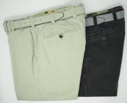 COTTON ADJUSTABLE WAIST PANTS MEYER