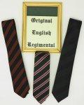 URSPRÜNGLICHE ENGLISCHE REGIMENTALKRAWATTE ORIGINAL ENGLISH REGIMENTAL