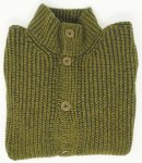 CARDIGAN COLLO ALTO FISHERMAN