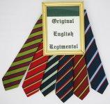 ORIGINAL ENGLISH REGIMENTAL TIE ORIGINAL ENGLISH REGIMENTAL